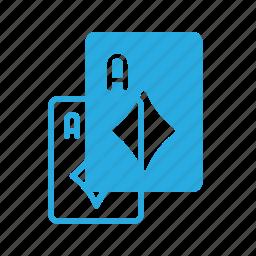 card, casino, diamond, game, leisure icon