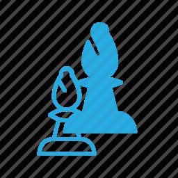 bishop, chess, figure, game, leisure icon