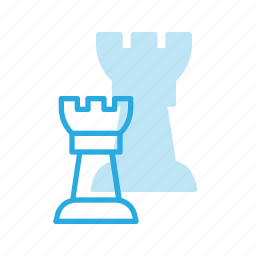 chess, game, leisure, rock, tower icon