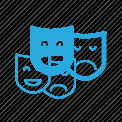 leisure, mask, theatre icon