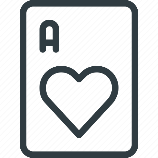 card, casino, game, heart, leisure icon