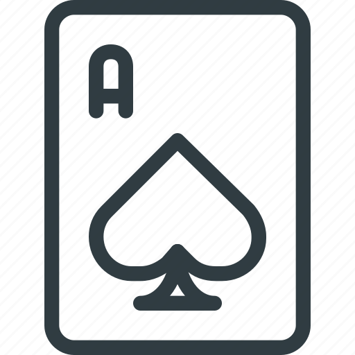 Game, casino, card, leisure, spade icon