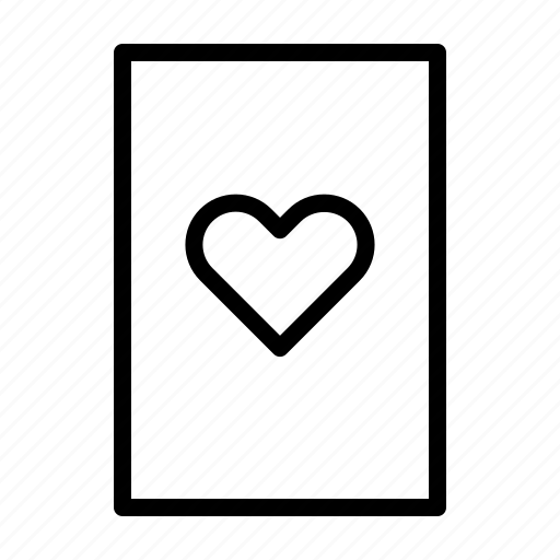 card, casino, gambling, game, heart, house icon