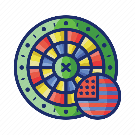 american, casino, game, luck, roulette icon