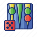 backgammon, board, casino, game icon