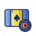 ace, blackjack, cards, chip, poker icon