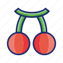 berry, cherry, food, fruit, jackpot icon