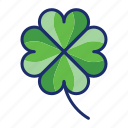 clover, four, leaf, luck icon