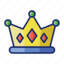 best, crown, golden, king, winner icon