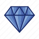 diamond, gem, jewelry, value, wealth icon