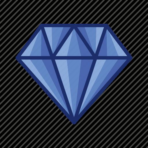 diamond, gem, jewelry, value, wealth icon