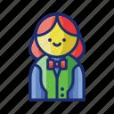 casino, croupier, female, gambling, woman icon