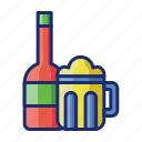 alcohol, beer, drinks, free, wine icon