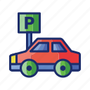 car, free, parking, self, service icon