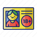 age, card, gambling, id, id card icon