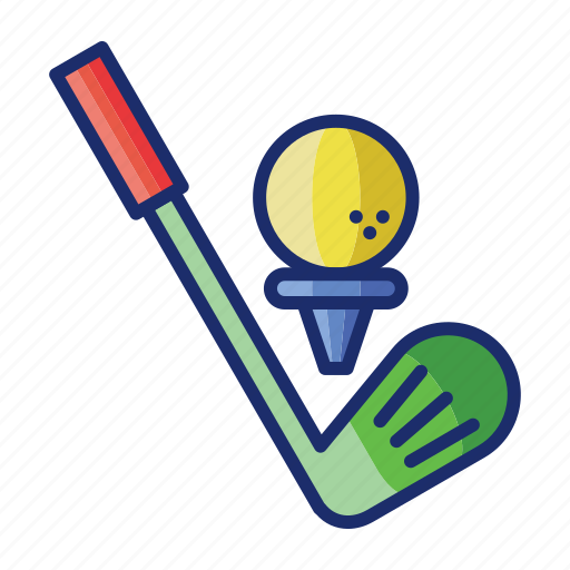 ball, golf, sports, stick icon