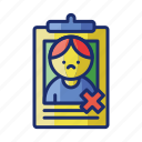 exclusion, man, self, stopping icon