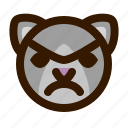 angry, animals, cat, cute, emoji, emoticon, 猫 icon