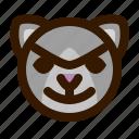 animals, bad, cat, cute, emoji, emoticon, 猫 icon