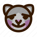 animals, blush, cat, cute, emoji, emoticon, 猫 icon