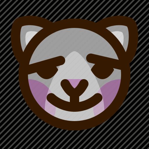 animals, blush, cat, cute, emoji, emoticon, 猫 icon