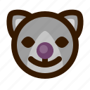 animals, cat, clown, cute, emoji, emoticon, 猫 icon