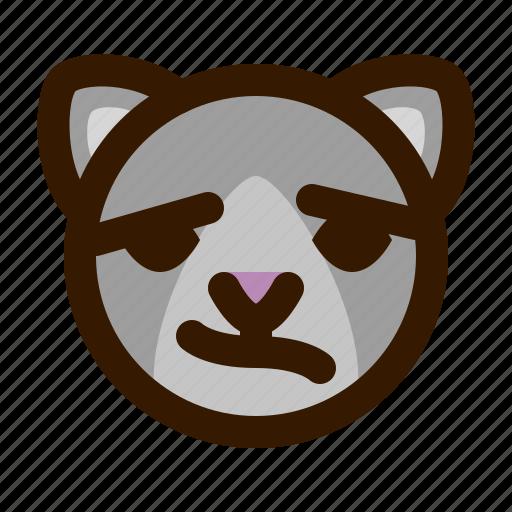 animals, cat, confused, cute, emoji, emoticon, 猫 icon