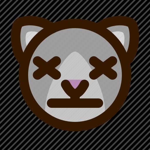 animals, cat, cute, emoji, emoticon, lifeless, 猫 icon