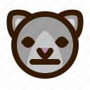 animals, cat, cute, emoji, emoticon, neutral, 猫 icon
