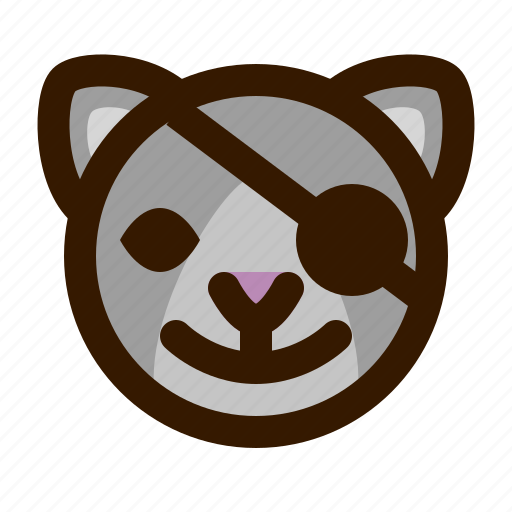 animals, cat, cute, emoji, emoticon, pirate, 猫 icon