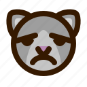 animals, cat, cute, emoji, emoticon, sad, 猫 icon