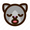 animals, cat, cute, emoji, emoticon, sleep, 猫 icon