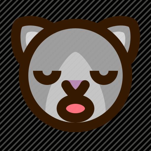 animals, cat, cute, emoji, emoticon, sleep, 猫 icon