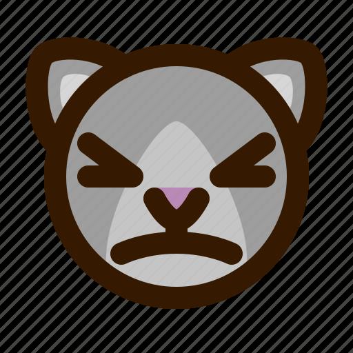 animals, cat, cute, emoji, emoticon, stunned, 猫 icon
