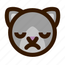 animals, cat, cute, emoji, emoticon, upset, 猫 icon