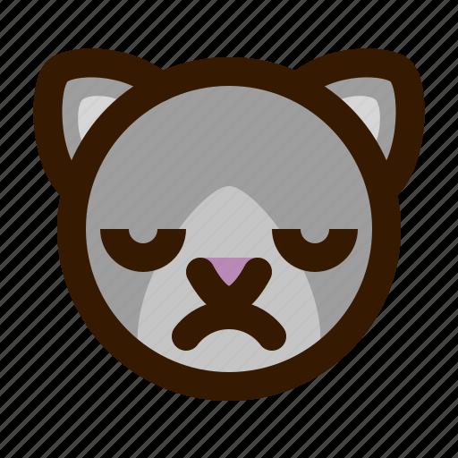 animals, cat, cute, emoji, emoticon, upset, 猫 icon