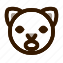 animal, atonished, avatar, cat, cute, emoji, emoticon icon