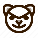 animal, avatar, bad, cat, cute, emoji, emoticon icon