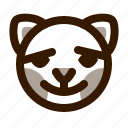 animal, avatar, blush, cat, cute, emoji, emoticon icon