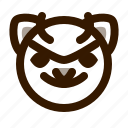 animal, avatar, cat, cute, devil, emoji, emoticon icon
