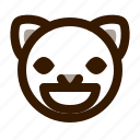 animal, avatar, cat, cute, emoji, emoticon, grin icon