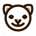 animal, avatar, cat, cute, emoji, emoticon, happy icon