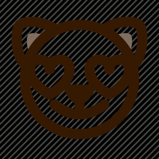animal, avatar, cat, cute, emoji, emoticon, love icon