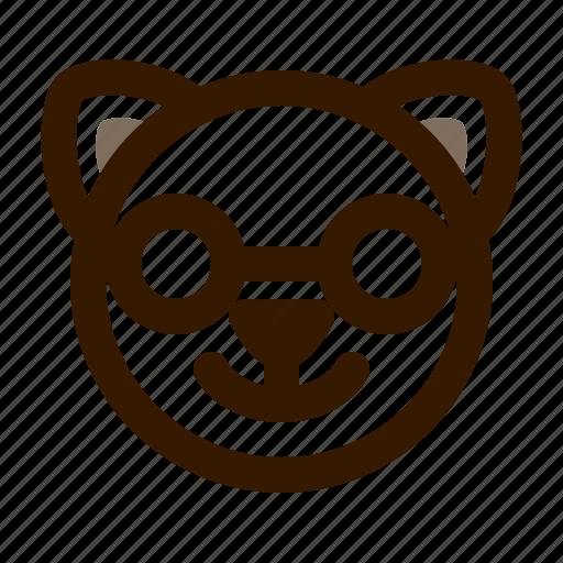 animal, avatar, cat, cute, emoji, emoticon, nerd icon