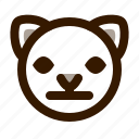 animal, cat, cute, emoji, emoticon, face, neutral icon