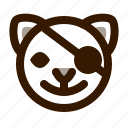 animal, avatar, cat, cute, emoji, emoticon, pirate icon