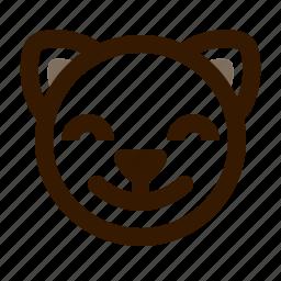 animal, avatar, cat, cute, emoji, emoticon, satisfied icon
