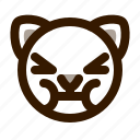 animal, avatar, cat, cute, emoji, emoticon, sick icon