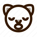 animal, avatar, cat, cute, emoji, emoticon, sleep icon