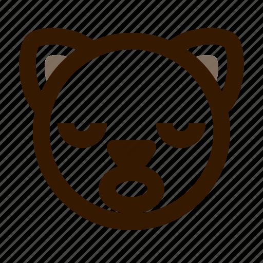 animal, avatar, cat, cute, emoji, emoticon, sleep icon